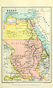 Map of Egypt and the Egyptian Sudan From the Book '  Britain across the seas : Africa : a history and description of the British Empire in Africa ' by Johnston, Harry Hamilton, Sir, 1858-1927 Published in 1910 in London by National Society's Depository