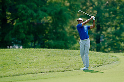 August 11, 2018 - St. Louis, Missouri, United States - Tiger Woods hits out of the rough on the 8th hole during the third round of the 100th PGA Championship at Bellerive Country Club. (Credit Image: © Debby Wong via ZUMA Wire)