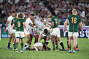 England team congratulates to Tom Curryof England for the penalty during the Rugby World Cup  final match between England and South Africa at the International Stadium ,  Saturday, Nov. 2, 2019, in Yokohama, Japan. South Africa defeated England 32-12. (Florencia Tan Jun/ESPA-Image of Sport)