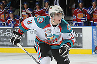 KELOWNA, CANADA, FEBRUARY 15: Carter Rigby #11 of the Kelowna Rockets skates on the ice against the Edmonton OIl Kings at the Kelowna Rockets on February 15, 2012 at Prospera Place in Kelowna, British Columbia, Canada (Photo by Marissa Baecker/Shoot the Breeze) *** Local Caption ***