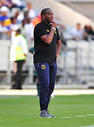 Cape Town--180401  Cape Town City coach looks disappointed after his team was knocked out of the Nedbank Cup quarter final game by Sundowns  at the Cape Town Stadium.Sundowns won the game 2-1 and will play maritzburg in the Semi-final  .Photographer;Phando Jikelo/African News Agency/ANA