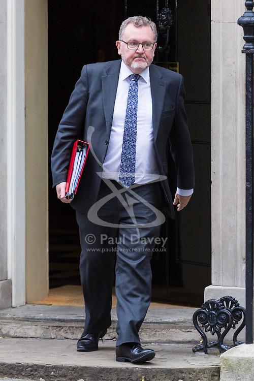 London, October 24 2017. Scotland Secretary David Mundell leaves the UK cabinet meeting at Downing Street. © Paul Davey