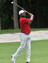 July 15, 2018 - Silvis, Illinois, U.S. - SILVIS, IL - JULY 15:  Harold Varner III hits his second shot on the #6 hole during the final round of the John Deere Classic on July 15, 2018, at TPC Deere Run, Silvis, IL.  (Photo by Keith Gillett/Icon Sportswire) (Credit Image: © Keith Gillett/Icon SMI via ZUMA Press)