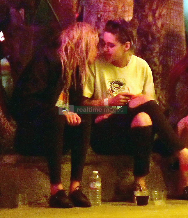 EXCLUSIVE: Kristen Stewart shares a sweet kiss with her girlfriend Stella while hanging out at Coachella. 14 Apr 2018 Pictured: Kristen Stewart and Stella Maxwell. Photo credit: Marksmen / MEGA TheMegaAgency.com +1 888 505 6342