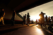 Fans enter New Britain Stadium before the Eastern League All-Star game hosted by the New Britain Rock Cats. (Photo by Kevin Bartram)