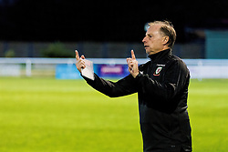 BANGOR, WALES - Monday, October 15, 2018: Wales' Under 19 manager Paul Bodin during the UEFA Under-19 International Friendly match between Wales and Poland at the VSM Bangor Stadium. (Pic by Paul Greenwood/Propaganda)