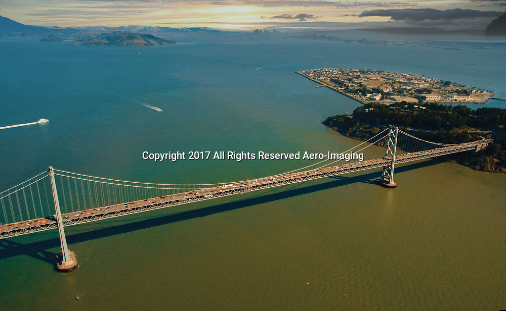 Aerial view of the Oakland Bay Bridge