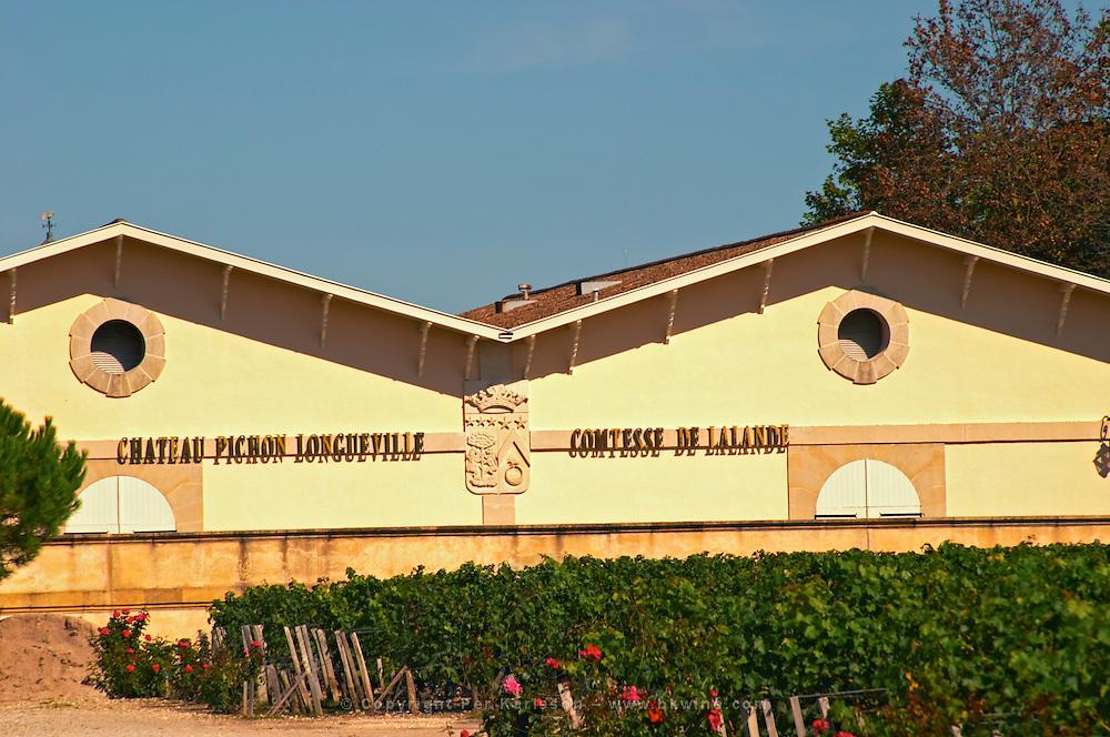 The winery at The Chateau Longueville Comtesse de Lalande in Pauillac, Medoc, Bordeaux