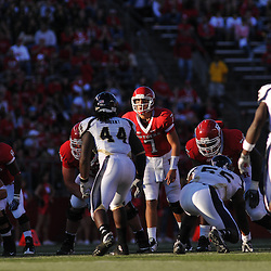 Sep 19, 2009; Piscataway, NJ, USA; Rutgers quarterback Tom Savage (7) lines up under center during the first half of NCAA college football between Rutgers and Florida International at Rutgers Stadium.