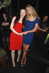 Left to right, actresses TALULAH RILEY and TAMSIN EGERTON at the launch Beyond The Rave - Hammer's first horror movie in 30 years, held at Shoreditch House, London on 16th April 2008.<br /><br />NON EXCLUSIVE - WORLD RIGHTS