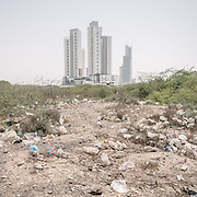 There is barely any garbage disposal system in Karachi. In areas like Block 5 (opposite Port Tower Complex development) people just dispose of their garbage straight into the nearest body of water. When the heavy monsoon rain comes, the garbages are usually carried away into the ocean.