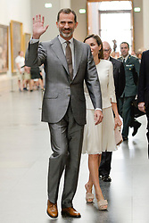 Spain's King Felipe VI and Queen Letizia arrive to preside over the constituent meeting of the National Commission of the Celebration of the 2nd Century of the Prado Museum at the old cloister of the Jeronimos in Madrid, Spain, on 19 June 2017. The royal couple also visited the Prado Museum coinciding with the third anniversary of King Felipe VI's royal proclamation. Photo by Archie Andrews/ABACAPRESS.COM