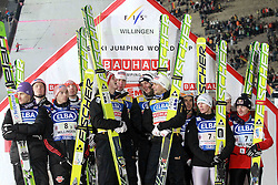 29.01.2011, Mühlenkopfschanze, Willingen, GER, FIS Skijumping Worldcup, Team Tour, Willingen, im Bild Podium, Deutschland, Österreich und Polen// during FIS Skijumping Worldcup, Team Tour, willingen, EXPA Pictures © 2011, PhotoCredit: EXPA/ Newspix/ JERZY KLESZCZ +++++ATTENTION+++++ - FOR AUSTRIA (AUT), SLOVENIA (SLO), SERBIA (SRB) an CROATIA (CRO), SWISS SUI and SWEDEN SWE CLIENT ONLY