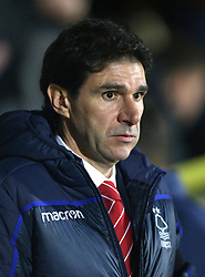Nottingham Forest manager Aitor Karanka during the Carabao Cup, Fourth Round match at the Pirelli Stadium, Burton.