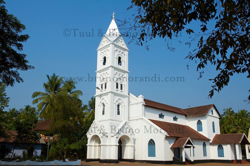Inde, Etat du Kerala, Calicut ou kozhikode, Eglise d Inde du Sud datant de 1842 // India, Kerala state, Calicut or kozhikode, South India church from 1842