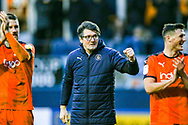 Luton Town interim manager Mick Harford celebrates at full time during the EFL Sky Bet League 1 match between Luton Town and Wycombe Wanderers at Kenilworth Road, Luton, England on 9 February 2019.
