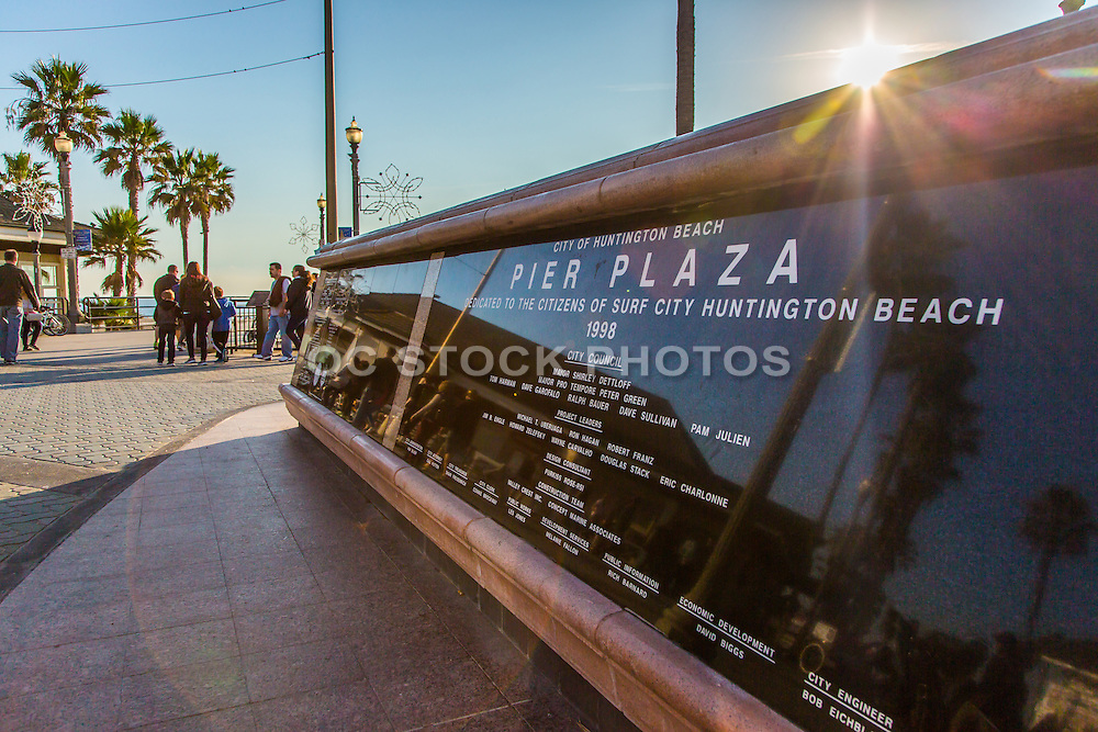 City of Huntington Beach Pier Plaza Monument