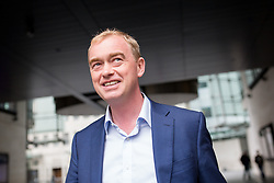 © Licensed to London News Pictures. 18/09/2016. London, UK. Leader of the Liberal Democrats Tim Farron leaves BBC Broadcasting House after appearing on the Andrew Marr show this morning. Photo credit : Tom Nicholson/LNP