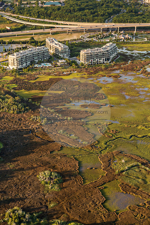 Aerial view of the Tides development in Mount Pleasant, SC.