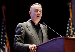 """Actor and Campaign Chair Tom Hanks speaks at the launch of """"Hidden Heroes"""" campaign at the Capitol September 27, 2016 in Washington, DC.The Hidden Heroes campaign has been created to generate stronger support for America's 5.5 million military and veteran caregivers. Photo by Olivier Douliery/Abaca"""