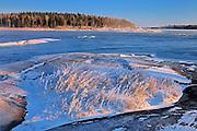 Extreme Windchill at Sturgeon Rapids on Nutimik Lake<br /> Whiteshell Provincial Park<br /> Manitoba<br /> Canada