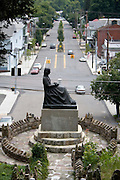 The Mothers Memorial in Ashland, Pennsylvania was dedicated on September 4, 1938.  It is a bronze reproduction of Whistler's Mother that was erected to honor Ashland's mothers.