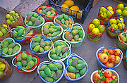 Prickly pear and other Mediterranean fruit in Sicily, Italy