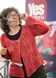 20-02-16. Cardiff, Wales,  UK. Launch Rally of YesCymru :a new cross-party grass-roots movement advocating an Independent Wales. The meeting had 100 activists from allover the Principality and a variety of differing party political views. Speaking Liz Castro from the Assemblea Nacional Catalana (Catalonia)  More Info: Iestyn ap Rhobert: ietynap@hotmail.com post@yescymru.org 07817024319  http://yes.cymru  @yescymru  Picture credit: Ian Homer/LNP