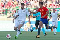 Spain's Rodrigo (r) and Italy's Cutrone during international sub 21 friendly match. September 1,2017.(ALTERPHOTOS/Acero)