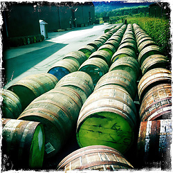 Whisky barrels..Hipstamatic images taken on an Apple iPhone..©Michael Schofield.