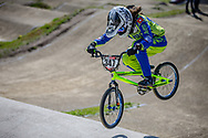 #347 (LACK Saskja) SUI during practice of Round 3 at the 2018 UCI BMX Superscross World Cup in Papendal, The Netherlands