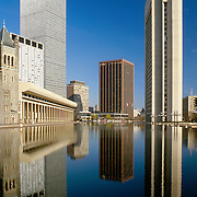 Reflecting pool of the headquaters of The Christian Science Church, Boston, Massachusetts