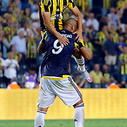 Fenerbahce's Volkan Sen (L) and Fernandao (R) during their UEFA Europa league Play-Offs Second Leg soccer match Fenerbahce between Atromitos at the Sukru Saracaoglu stadium in Istanbul Turkey on Thursday 27 August 2015. Photo by Aykut AKICI/TURKPIX