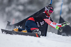 Sylvain Dufour (FRA) during Final Run at Parallel Giant Slalom at FIS Snowboard World Cup Rogla 2019, on January 19, 2019 at Course Jasa, Rogla, Slovenia. Photo byJurij Vodusek / Sportida