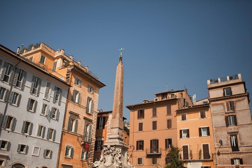 Piazza della Rotonda, also known as the Pantheon Square, in Rome, in Italy.