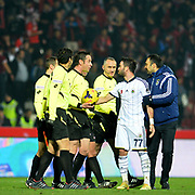 Fenerbahce's Gokhan Gonul (2ndR) during their Turkish superleague soccer match Gaziantepspor between Fenerbahce at the Kamil Ocak stadium in Gaziantep Turkey on Saturday 14 February 2015. Photo by TURKPIX