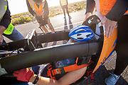 De ochtendruns op de vijfde racedag. Het Human Power Team Delft en Amsterdam, dat bestaat uit studenten van de TU Delft en de VU Amsterdam, is in Amerika om tijdens de World Human Powered Speed Challenge in Nevada een poging te doen het wereldrecord snelfietsen voor vrouwen te verbreken met de VeloX 9, een gestroomlijnde ligfiets. Op 10 september 2019 verbreekt het team met Rosa Bas het record met 122,12 km/u. De Canadees Todd Reichert is de snelste man met 144,17 km/h sinds 2016.<br /> <br /> With the VeloX 9, a special recumbent bike, the Human Power Team Delft and Amsterdam, consisting of students of the TU Delft and the VU Amsterdam, wants to set a new woman's world record cycling in September at the World Human Powered Speed Challenge in Nevada. On 10 September 2019 the team with Rosa Bas a new world record with 122,12 km/u.  The fastest man is Todd Reichert with 144,17 km/h.