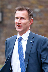 © Licensed to London News Pictures. 29/03/2017. London, UK. Health Secretary JEREMY HUNT attends a cabinet meeting in Downing Street, London on Wednesday, 29 March 2017 as Prime Minister Theresa May triggers article 50 and starts Britain's departure from the European Union. Photo credit: Tolga Akmen/LNP