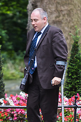 Downing Street, London, June 14th 2016. Deputy Chairman of the Conservative Party Robert Halfon arrives at 10 Downing Street to attend the weekly cabinet meeting.