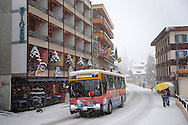 Grindelwald town with Hotel Eiger  in the winter snow. Ski resort - Swiss Alps .<br /> <br /> Visit our SWITZERLAND  & ALPS PHOTO COLLECTIONS for more  photos  to browse of  download or buy as prints https://funkystock.photoshelter.com/gallery-collection/Pictures-Images-of-Switzerland-Photos-of-Swiss-Alps-Landmark-Sites/C0000DPgRJMSrQ3U