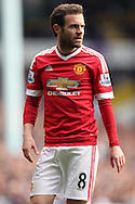 Juan Mata of Manchester United looks on. Barclays Premier league match, Tottenham Hotspur v Manchester Utd at White Hart Lane in London on Sunday 10th April 2016.<br /> pic by John Patrick Fletcher, Andrew Orchard sports photography.