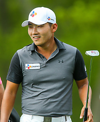 May 19, 2019 - Farmingdale, NY, U.S. - FARMINGDALE, NY - MAY 19: Sung Kang of The Republic of Korea is pictured during the Final Round of the 2019 PGA Championship, on the Black Course, Bethpage State Park, in Farmingdale, NY. (Photo by Joshua Sarner/Icon Sportswire) (Credit Image: © Joshua Sarner/Icon SMI via ZUMA Press)