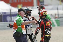 30.06.2012. Circuit Assen, NED, MotoGP, Iveco TT Assen, MotoGP, im Bild Jorge Lorenzo - Yamaha factory team and Alvaro Bautista - San Carlo Honda Gresini // during the MotoGP of Iveco TT Assen, MotoGP, at the Circuit Assen, Netherlands on 2012/06/30. EXPA Pictures © 2012, PhotoCredit: EXPA/ Insidefoto/ Semedia..***** ATTENTION - for AUT, SLO, CRO, SRB, SUI and SWE only *****