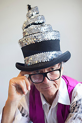 © licensed to London News Pictures. London, UK 14/06/2012. David Shilling posing as he unveils his new collection of hats today (14/06/12). Photo credit: Tolga Akmen/LNP