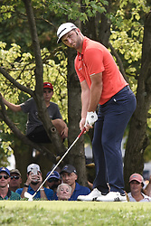 August 12, 2018 - Town And Country, Missouri, U.S - JON RAHM from Spain gets ready to tee off on hole two during round four of the 100th PGA Championship on Sunday, August 12, 2018, held at Bellerive Country Club in Town and Country, MO (Photo credit Richard Ulreich / ZUMA Press) (Credit Image: © Richard Ulreich via ZUMA Wire)