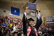 Ke'Von Miles during his UConn graduation.
