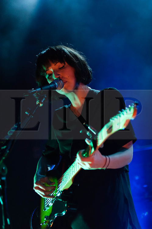 © Licensed to London News Pictures. 29/10/2013. London, UK.   Daughter  performing live at Shepherds Bush Empire. Daughter is an English indie rock band composed of members Elena Tonra (vocals/guitar), Igor Haefeli (guitar) and Remi Aguilella (drums).  Photo credit : Richard Isaac/LNP