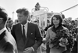 John F. Kennedy, the nation's 35th President, would have turned 100 years old on May 29, 2017. With the centennial anniversary of John F. Kennedy's birth, the former president's legacy is being celebrated across the nation. PICTURED: JNovember 22, 1963 - Dallas, USA - President JOHN F. KENNEDY and his wife JACQUELINE KENNEDY are greeted by an enthusiastic crowd upon their arrival at Dallas Airport,. Only a few hours later the president was assassinated while riding in an open-top limousine through the city. (Credit Image: © Minneapolis Star Tribune/ZUMAPRESS.com)