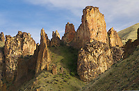Volcanic spires of Leslie Gulch in the Owyhee Uplands of SE Oregon