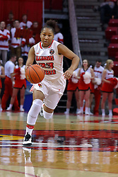 29 January 2017: Viria Livingston during an College Missouri Valley Conference Women's Basketball game between Illinois State University Redbirds the Salukis of Southern Illinois at Redbird Arena in Normal Illinois.